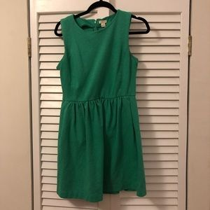 J.Crew green cotton dress